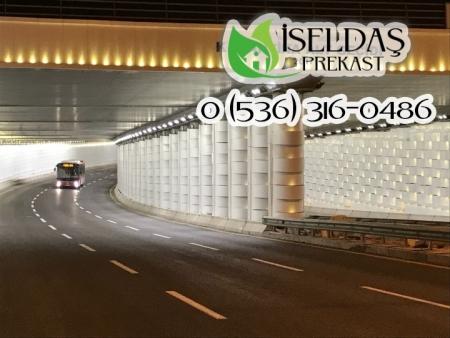 İzmir Mustafa Kemal Sahil Bulvarı Karantina Alt Geçidi Prekast Işıklı Modül Projesi